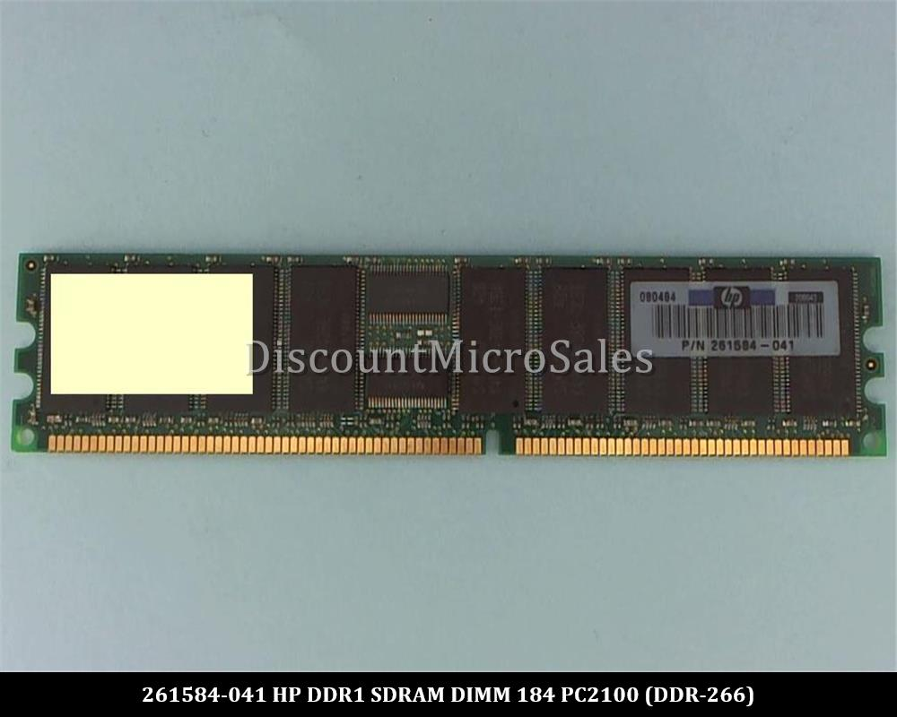 HP 261584-041 512MB PC-2100 266MHz DDR ECC SDRAM DIMM Server Memory 184 pin